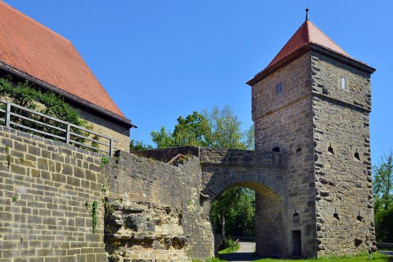 Spitalturm, Rothenburg o d Tauber, Alemanha imagem de stock