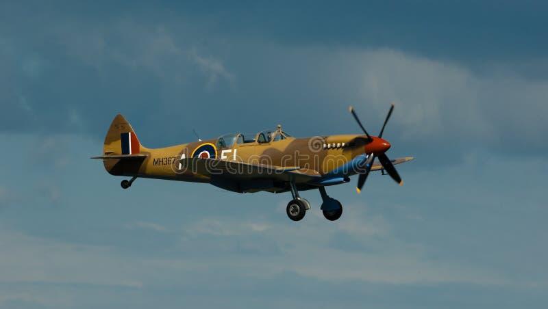 spitfire полета стоковая фотография rf