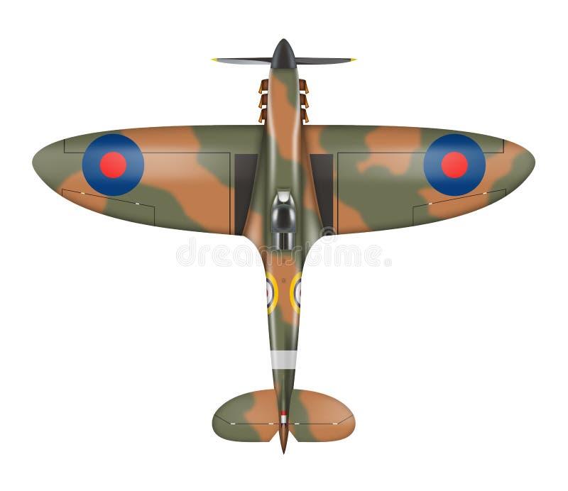 spitfire royalty-vrije illustratie