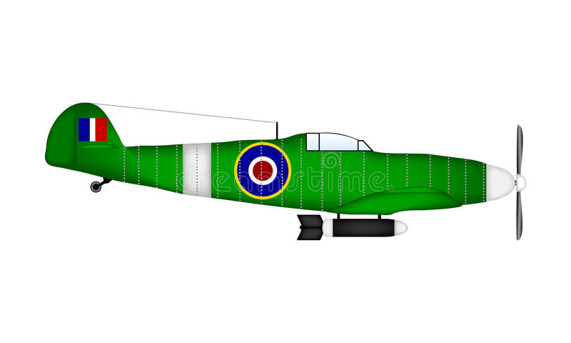 Spitfire de Supermarine illustration stock