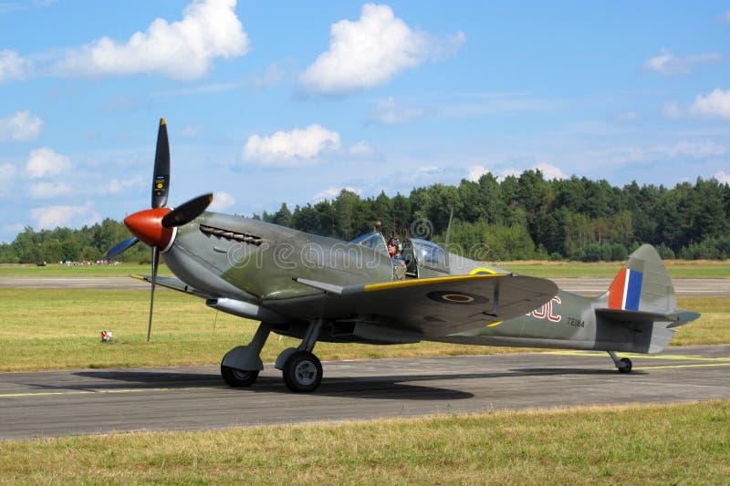 Spitfire de Supermarine en cierre para arriba foto de archivo
