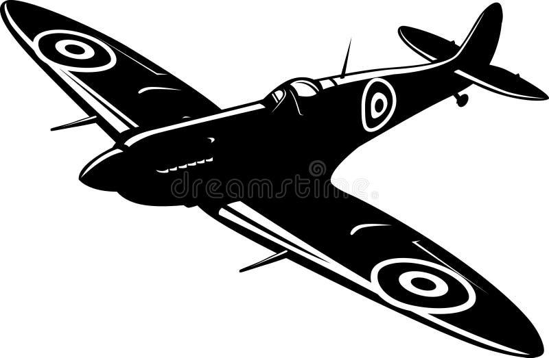 Spitfire do lutador ilustração stock