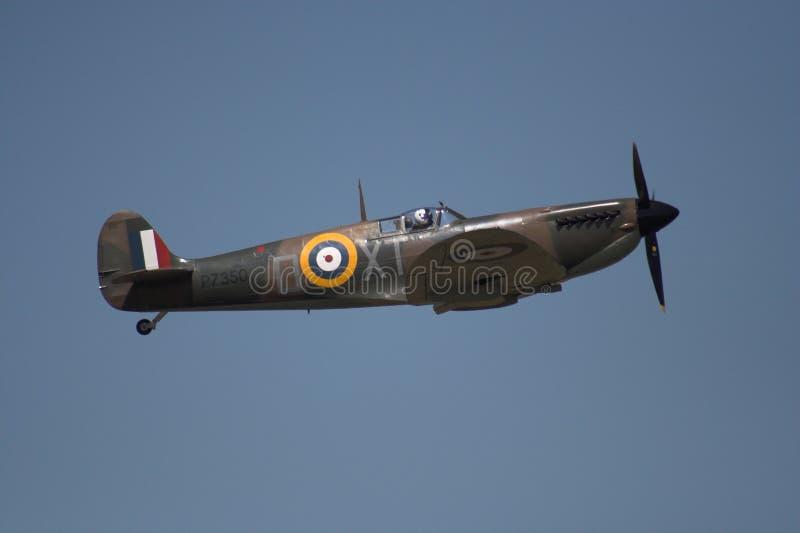 Spitfire durante il volo immagini stock libere da diritti