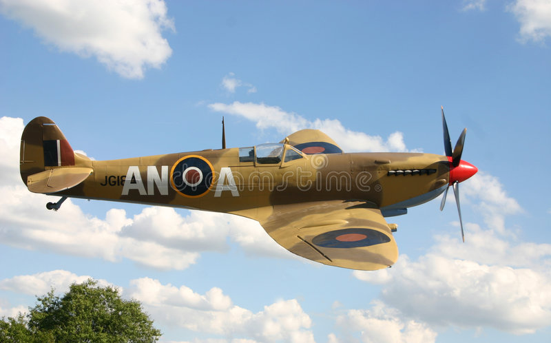 Spitfire fighter plane. WW II Spitfire fighter plane stock image