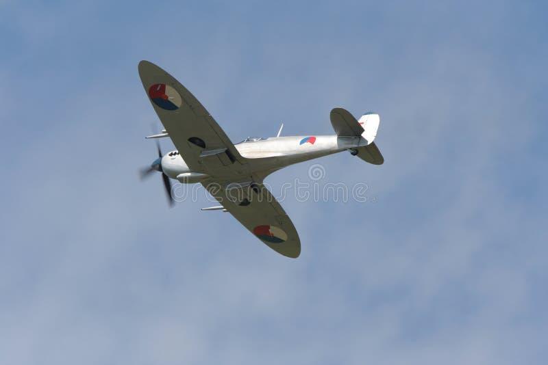 Spitfire in flight stock photos