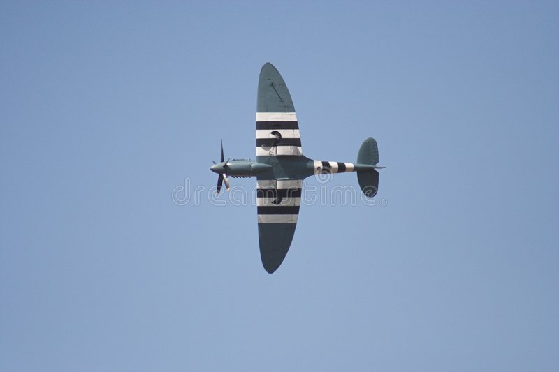 Spitfire im Flug stockbild
