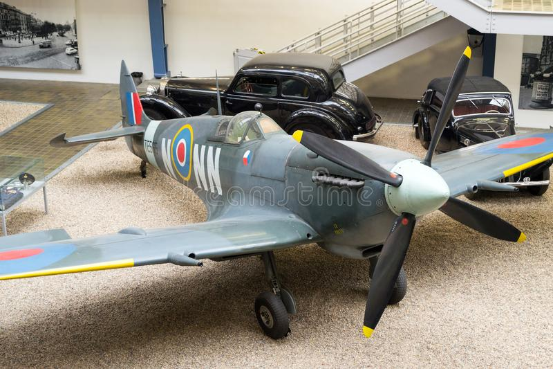 Spitfire LF MK IXe S 89, te565/nn-ν, εθνικό τεχνικό μουσείο, Πράγα, Δημοκρατία της Τσεχίας στοκ φωτογραφίες
