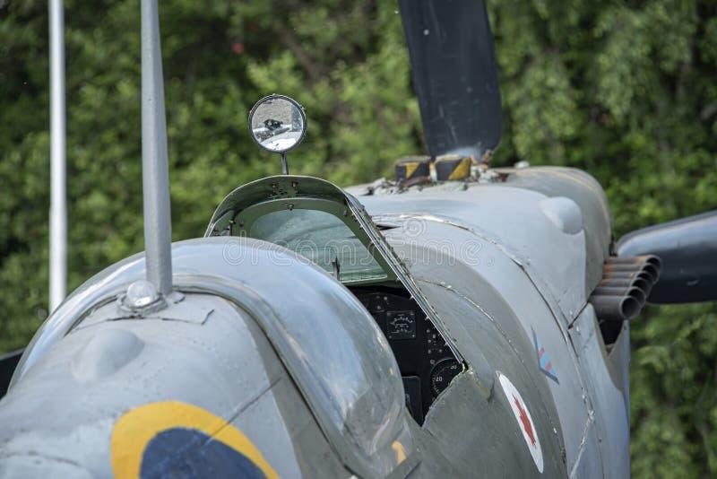 Spitfire MK ΙΧ, τμηματικό αριθ. EN398, JE-J στοκ φωτογραφίες με δικαίωμα ελεύθερης χρήσης