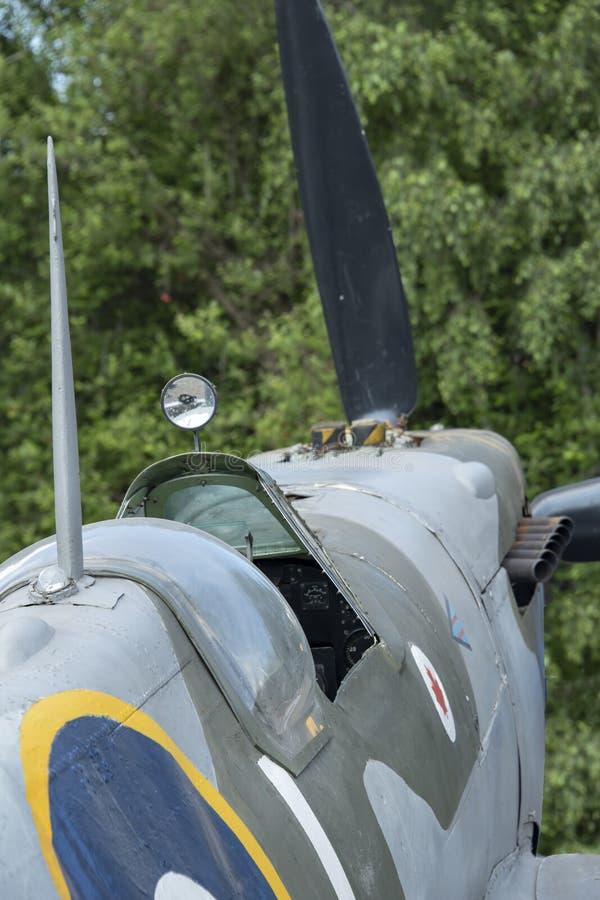 Spitfire MK ΙΧ, τμηματικό αριθ. EN398, JE-J στοκ εικόνες με δικαίωμα ελεύθερης χρήσης