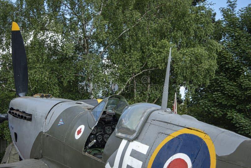 Spitfire MK ΙΧ, τμηματικό αριθ. EN398, JE-J στοκ εικόνα με δικαίωμα ελεύθερης χρήσης
