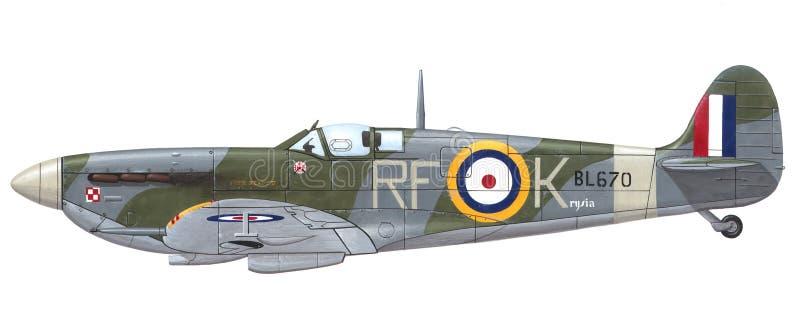 Spitfire Mk de Supermarine. VB ilustración del vector