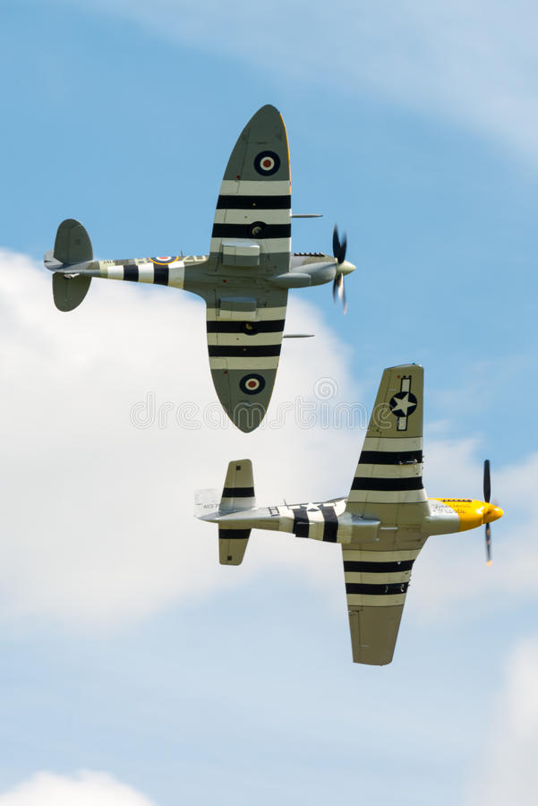 Spitfire And Mustang Editorial Stock Image
