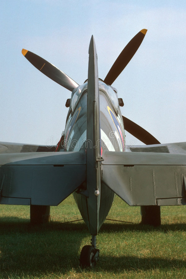 Spitfire Tail stock image