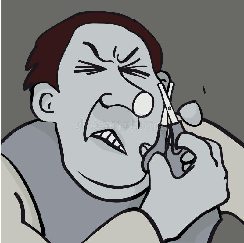 Spiting stawia czoło ilustracji