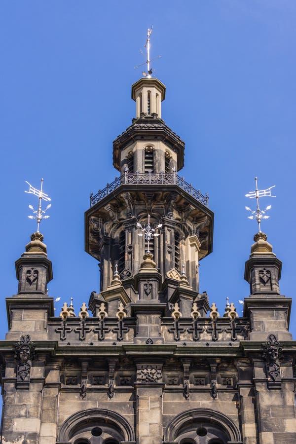 Spits van Augustine United Church, Edinburgh, Schotland, het UK royalty-vrije stock foto