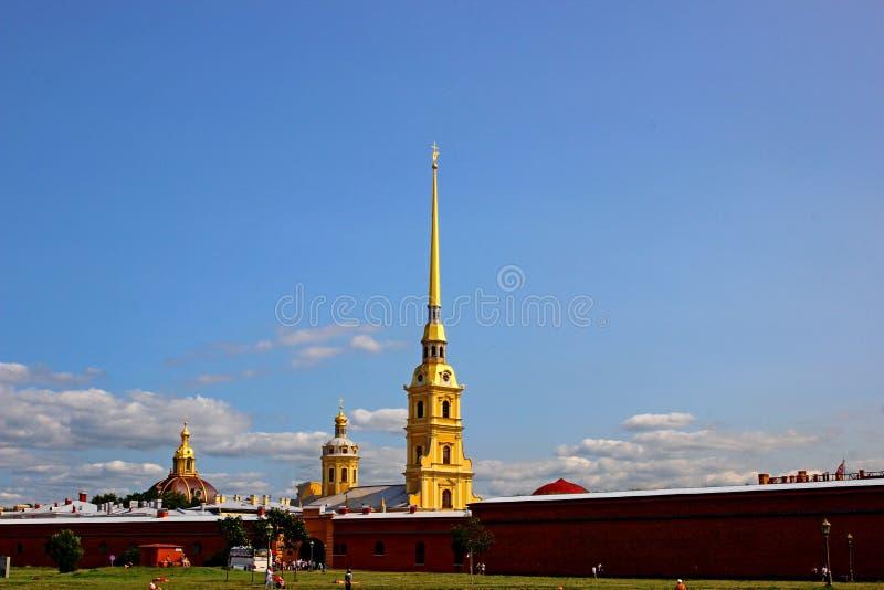 Spits van Peter en Paul Fortress in St. Petersburg royalty-vrije stock foto