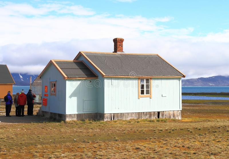 Spitsbergen: Europe`s northernmost post office stock photography