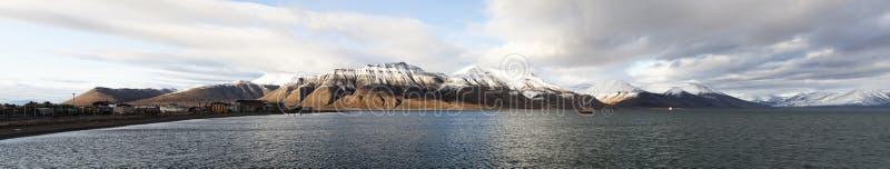 spitsbergen svalbard панорамы Норвегии стоковое фото rf