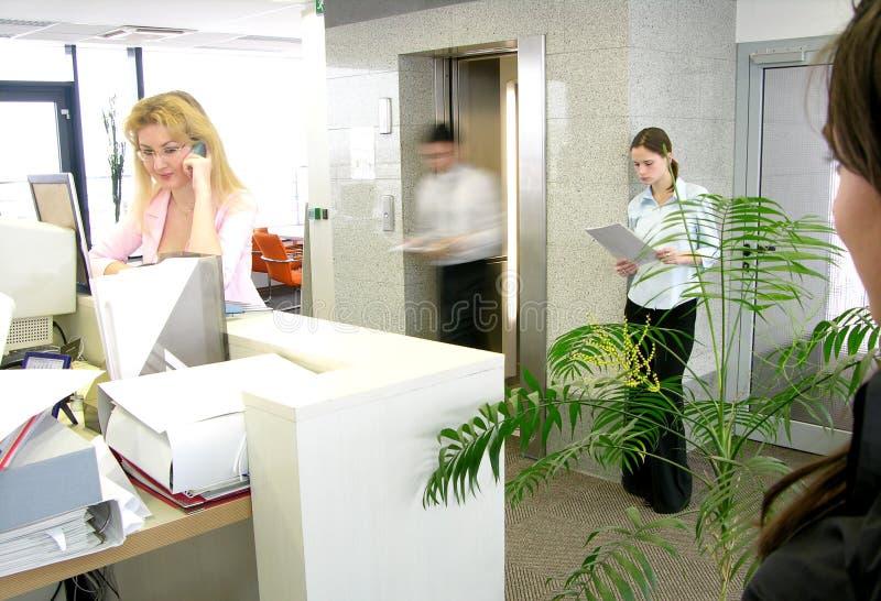 Spitsuur op het werk