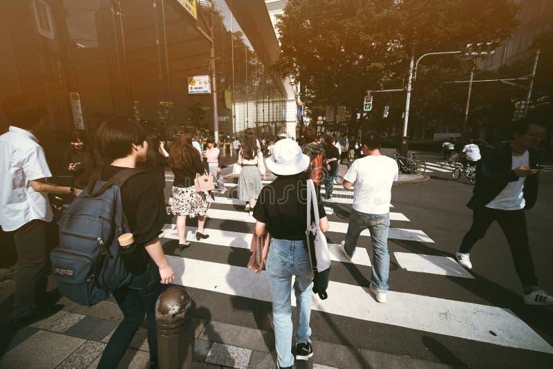 Spitsuur in Tokyo royalty-vrije stock foto's
