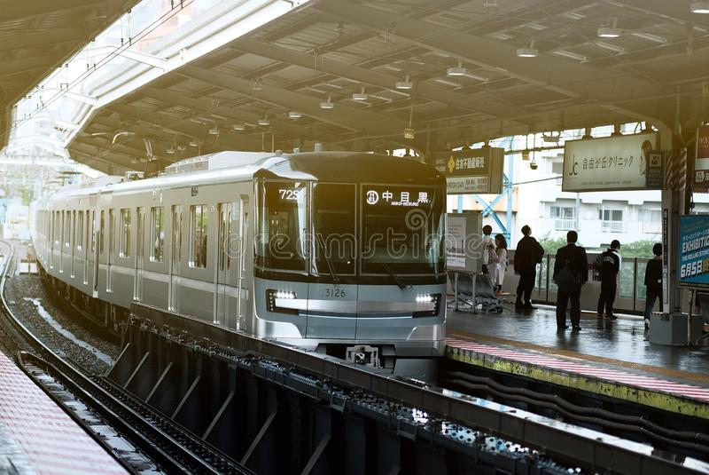 Spitsuur in Tokyo stock fotografie