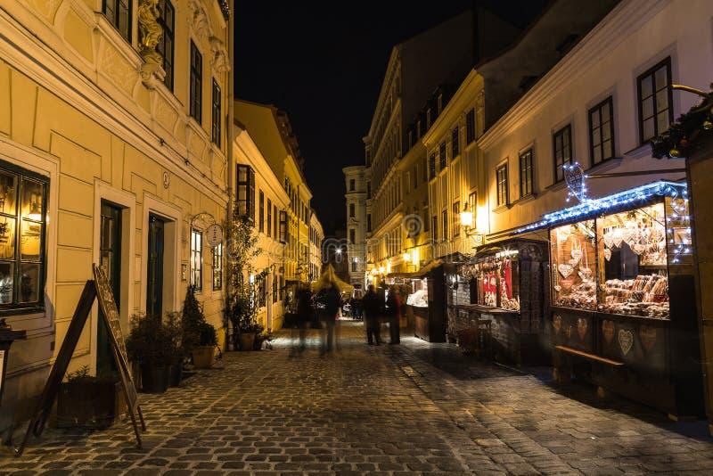 Spittelberg em Viena no Natal foto de stock
