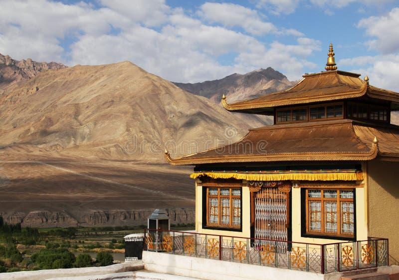 Spituk修道院在Ladakh,印度 免版税库存照片