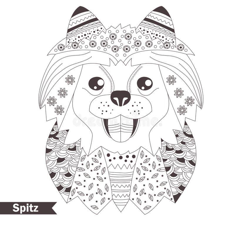 spitz Книжка-раскраска для взрослого бесплатная иллюстрация