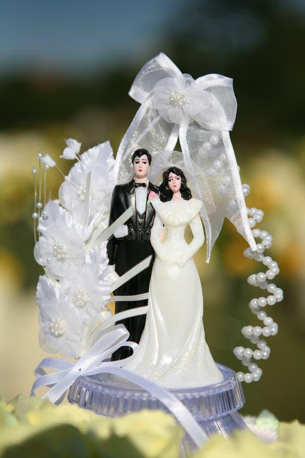 Spitze der Hochzeitstorte  stockfotos