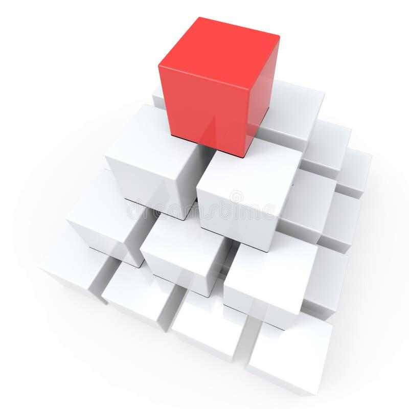 Spitze der Pyramide Hierarchie oder Führer zeigend stock abbildung