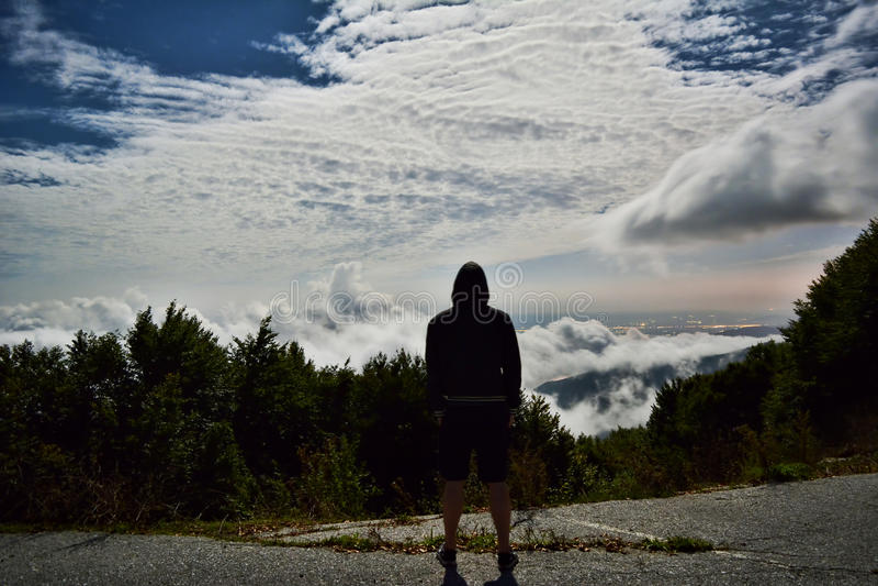 Spitze des Bergblicks stockfoto