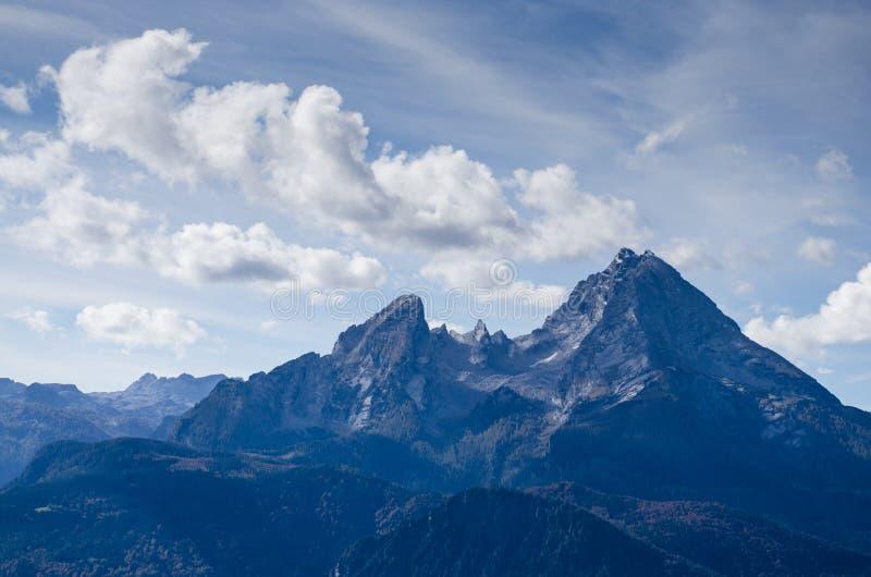 Spitze des Berges Watzmann lizenzfreie stockbilder