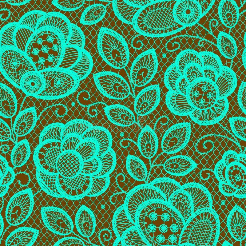 Spitze Emerald Seamless Pattern lizenzfreie abbildung