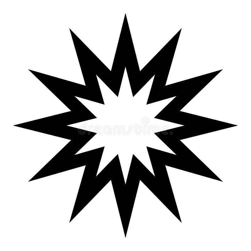 Spitze Ikone des Sternes zwölf, Element des übersichtlichen Designs lizenzfreie abbildung