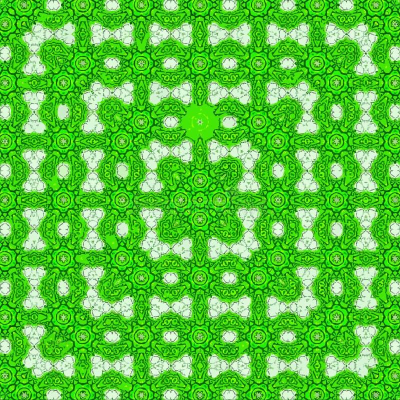Spitzen- Musterkaleidoskop des ununterbrochenen quadratischen Rahmens lizenzfreie abbildung