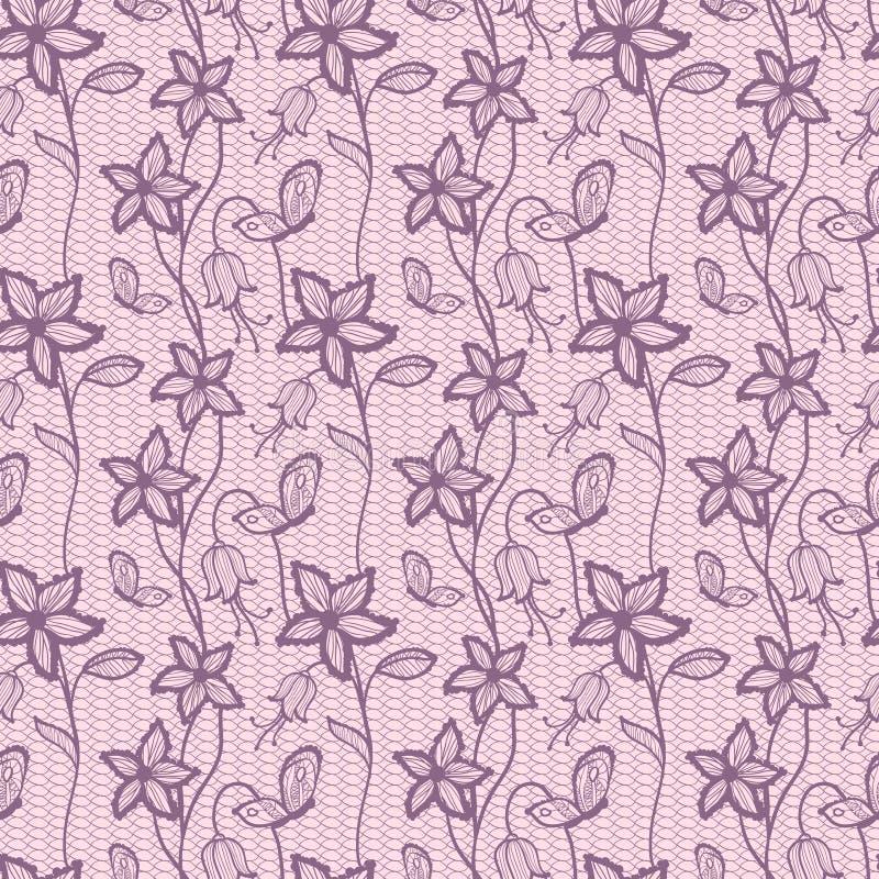Spitzen- nahtloser Hintergrund der Blume vektor abbildung