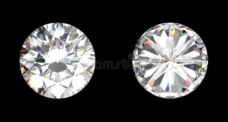 Spitzen- und Ansicht von unten des großen Diamanten vektor abbildung