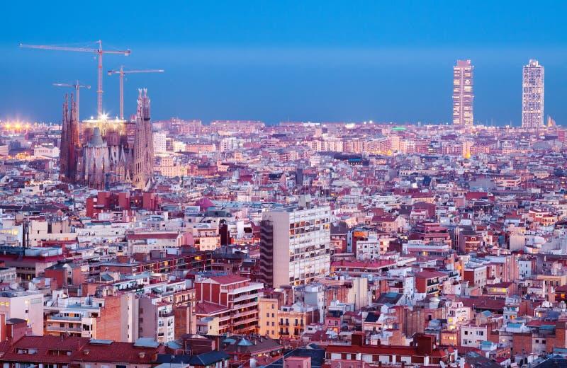 Spitzennachtart von Barcelona stockbild