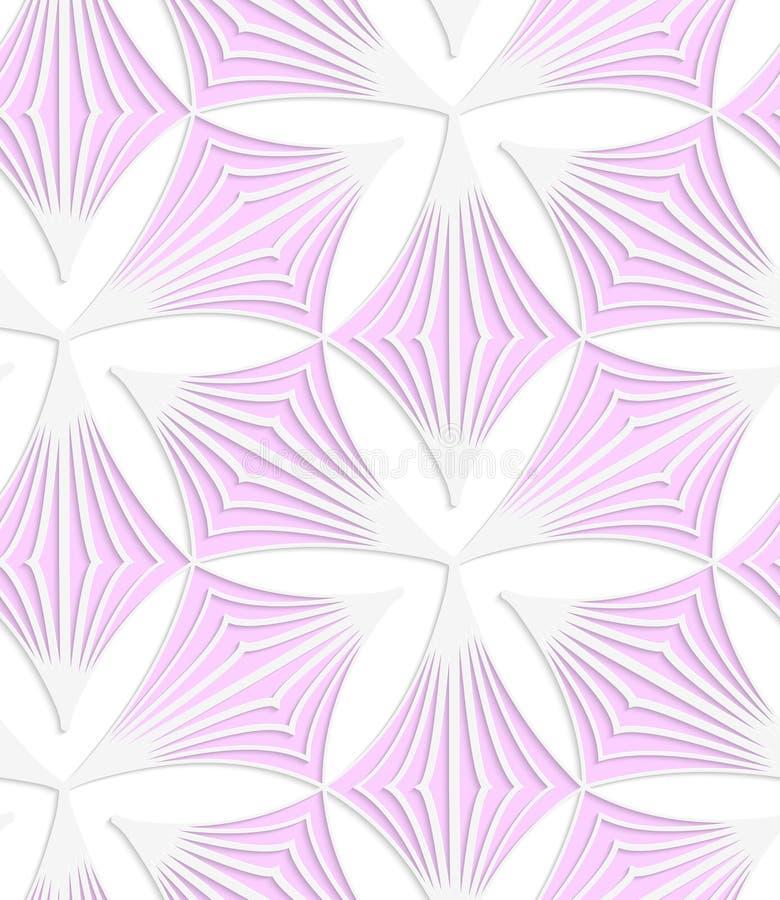 Spitzer Klee des Rosas des farbigen Papiers des Weiß stock abbildung