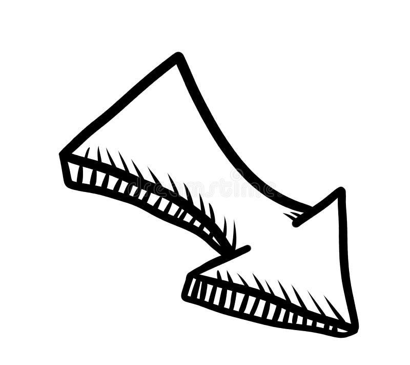 Spitzes Pfeil-Gekritzel stock abbildung