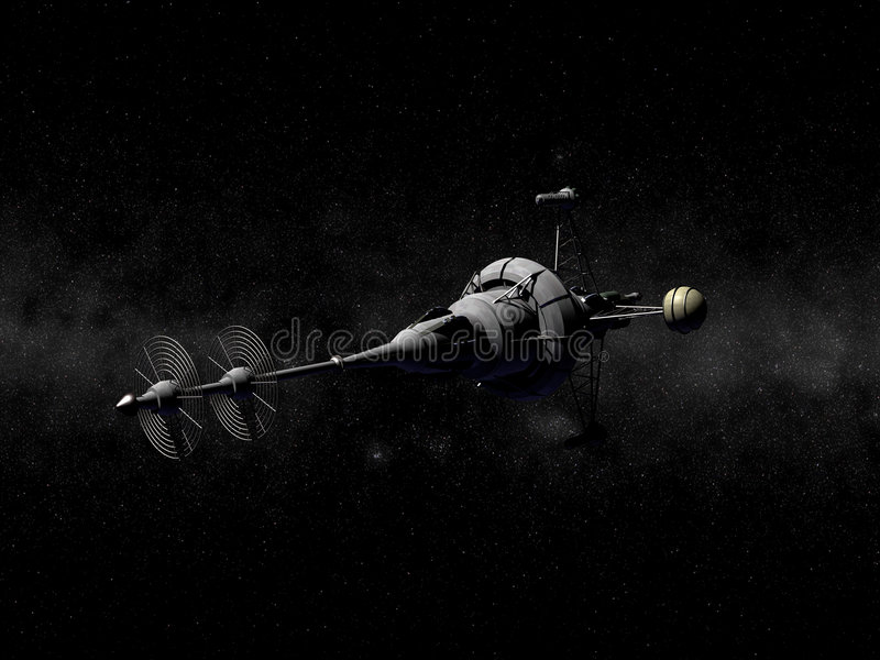 Spitzes Raumschiff stockfotografie