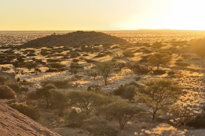 从Spitzkoppe,纳米比亚的日落 库存照片