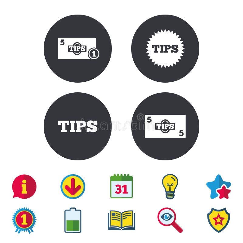 Spitzt Ikonen Bargeld mit Münzgeldsymbol vektor abbildung