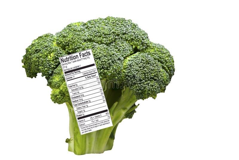spjut för broccolietikettnäring royaltyfria bilder