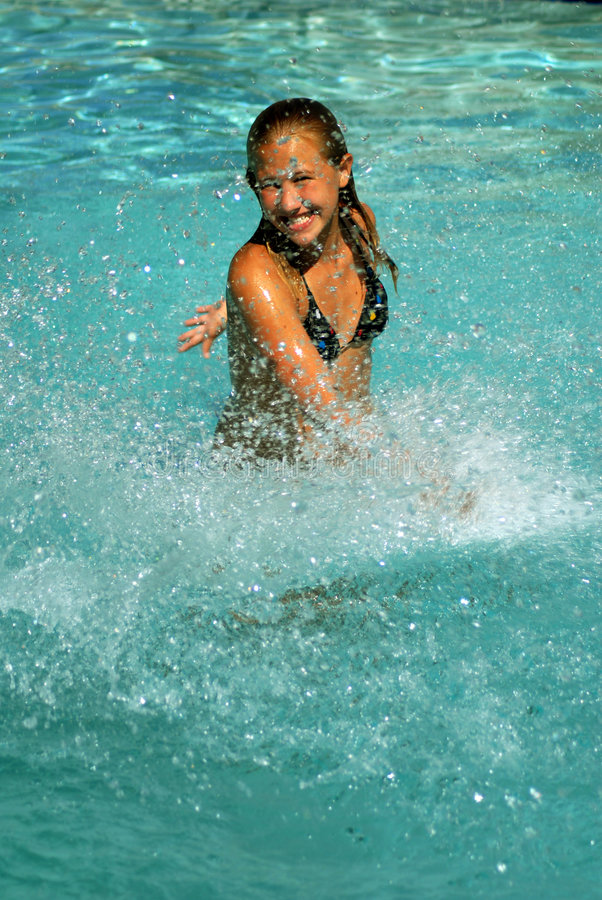 Download Splash stock image. Image of smile, teenager, swim, happy - 1229497