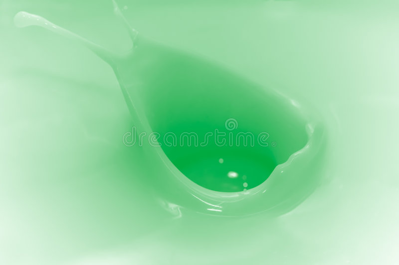Splash. Colored Yoghurt splash stock photo