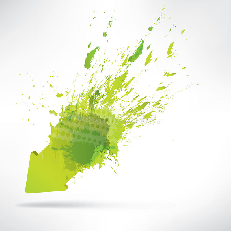 Splash on abstract background stock illustration