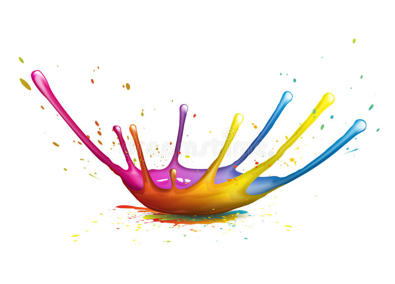 Splash. Abstract illustration of a colorful ink splash vector illustration