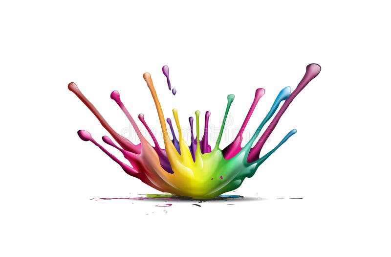 Splash. Abstract illustration of a colorful ink splash royalty free stock photos