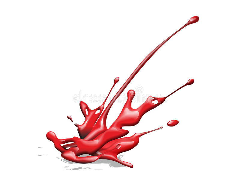 Splash. Abstract illustration of a red ink splash royalty free illustration